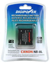 Load image into Gallery viewer, Digipower BP-CN8L digital camera battery, Replacement for Canon NB-8L battery pack