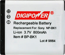 Load image into Gallery viewer, Digipower BP-BK1 digital camera battery, Replacement for Sony NP-BK1 battery pack