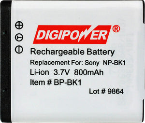 Digipower BP-BK1 digital camera battery, Replacement for Sony NP-BK1 battery pack