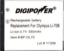 Load image into Gallery viewer, Digipower - BP-OL70 digital camera battery, Replacement for Olympus Li-70B battery pack