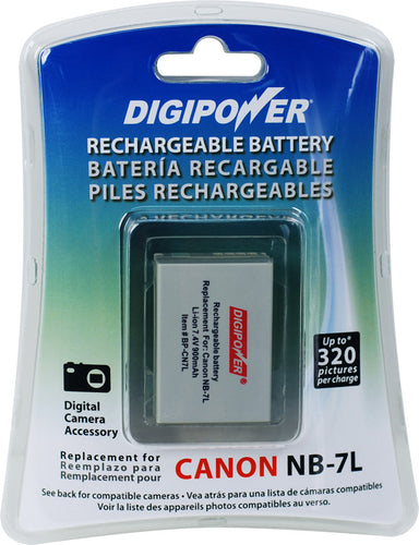 Digipower BP-CN7L digital camera battery, Replacement for Canon NB-7L battery pack