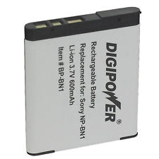 Digipower BP-BN1a digital camera battery, Replacement for Sony NP-BN1 battery pack