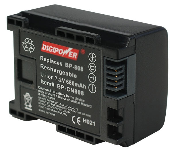 Digipower BP-CN808 Camcorder battery, Replacement for Canon BP-808 battery pack