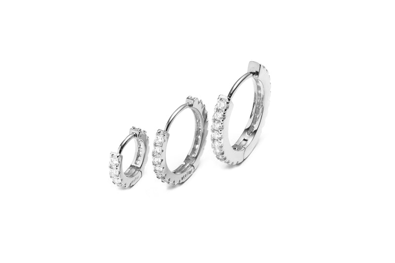 Maxi Stellar Hoops WHITE GOLD