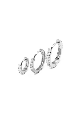 HOOPS for charms white gold