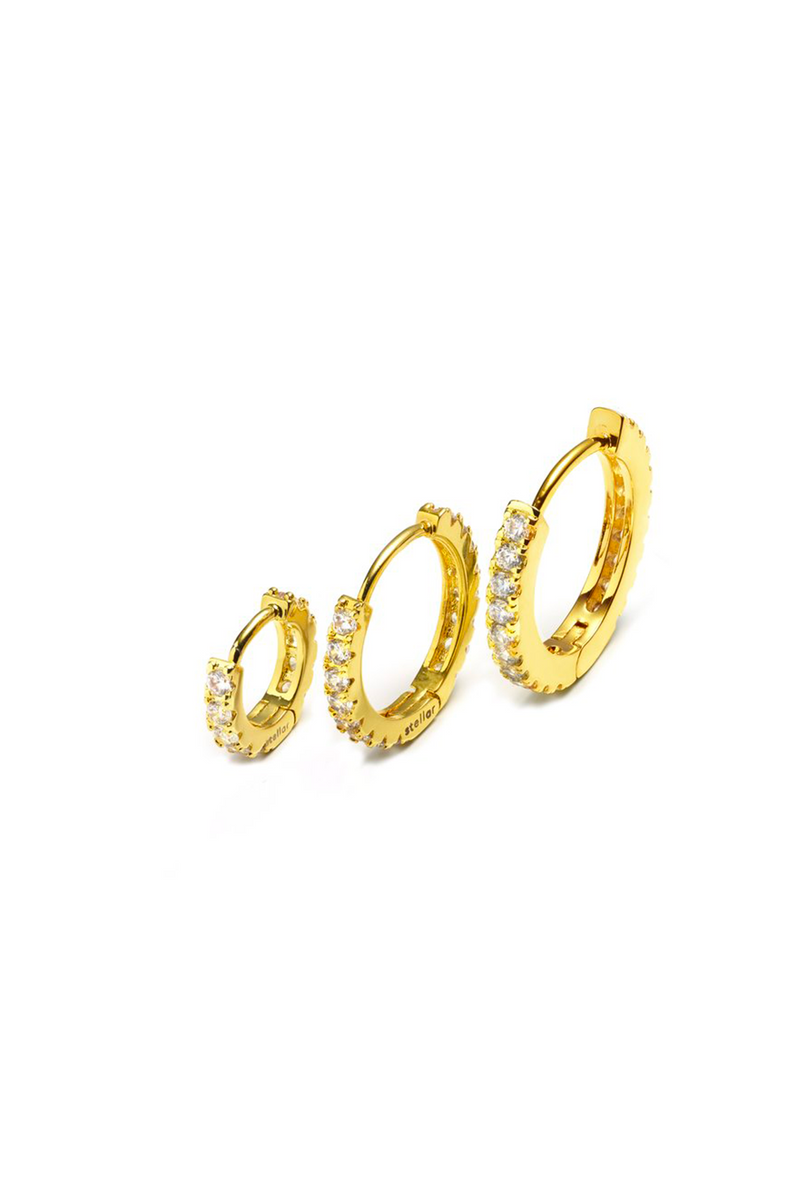 HOOPS for charms yellow gold
