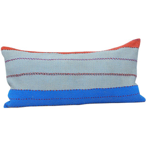 Blue Vintage Kantha Quilt Pillow