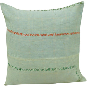 white vintage kantha quilt pillow