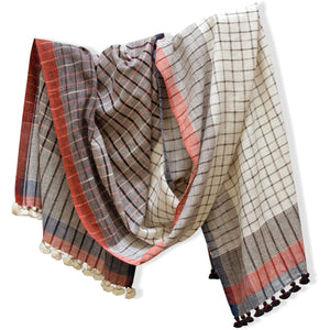 Handwoven organic Cotton Scarf for women