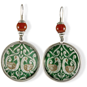 India silver disk earrings