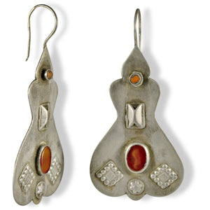 handmade silver Afghani earrings