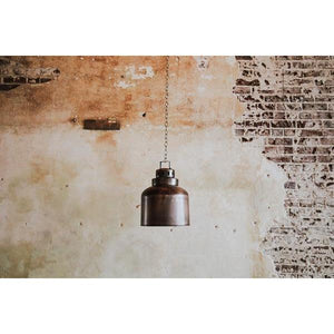architectural salvage metal lamp