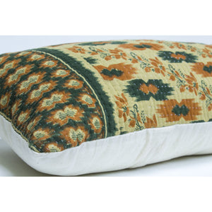 Beige Kantha Pillow Cover