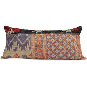 Indian Decor Kantha Pillow Bohemian Pillow