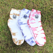 Tie-Dye Ankle Monochrome Socks Set of 3