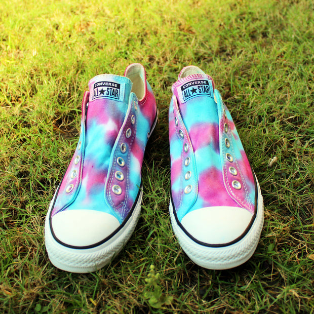 Tie-Dye All-Star Converse Unisex Sneakers Galaxy No Lace