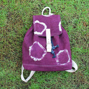TIE-DYE RING FLAP DRAWSTRING BACKPACK