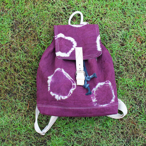 TIE-DYE RING FLAP DRAWSTRING BACKPACK - Huedee