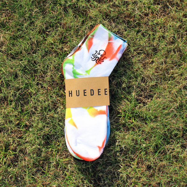 Ankle Length Tie-Dye Neon Socks Pair of 3