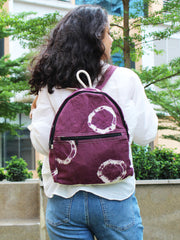 RING TIE-DYE COTTON CANVAS BACKPACK