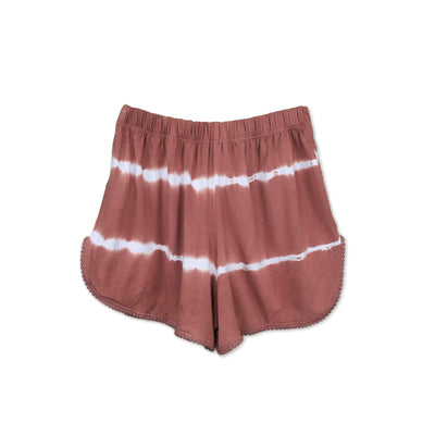 Huedee Women Running Shorts Ash Rose Stripes Tie dye