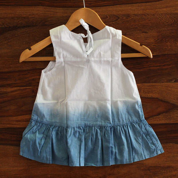 Toddler Ombre Tie-Dye Frill Dress