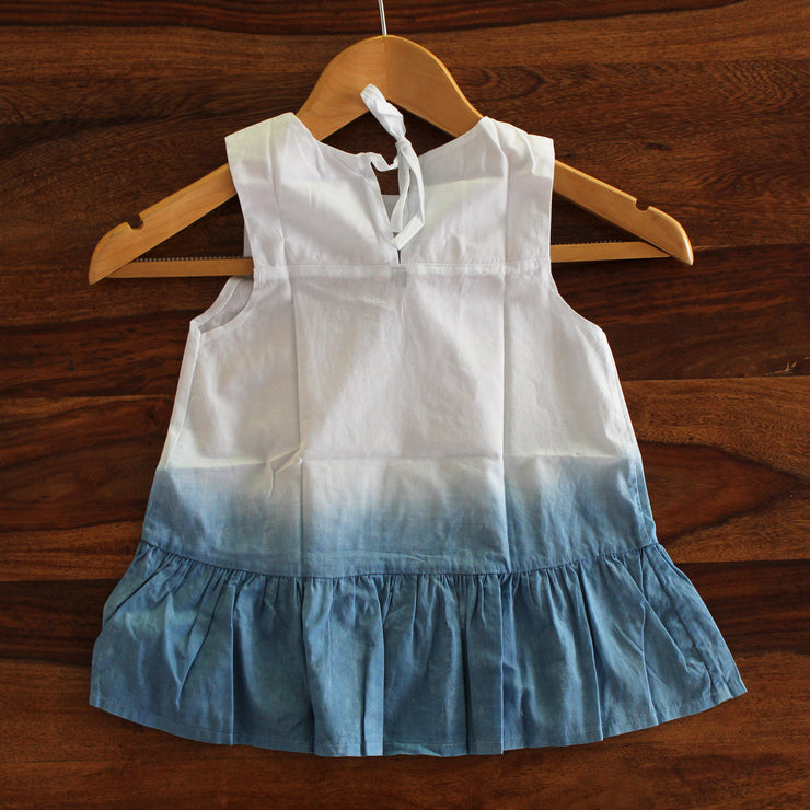 Toddler Ombre Tie-Dye Frill Dress - Huedee