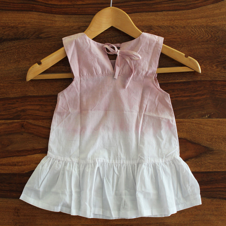 Toddler Top Ombre Tie-dye Frill Dress