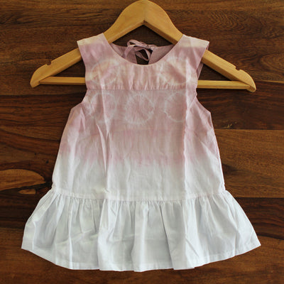 Toddler Top Ombre Tie-dye Frill Dress - Huedee