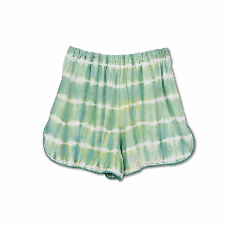 Tie-dye Nile Green Shorts - Huedee