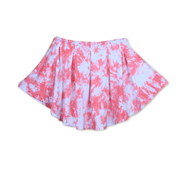 Tie-dye Rapture Rose Crumple Skirt - Huedee