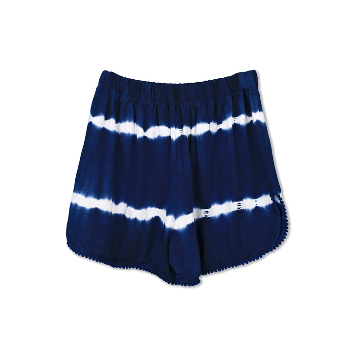 Tie-dye Navy Blue Shorts - Huedee