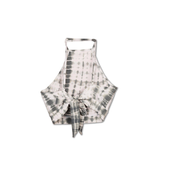 Huedee Halter Neck Top Dress Shibori Grey Tie dye