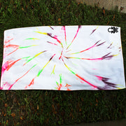 Tie-dye White Rainbow Spiral Bath Towel