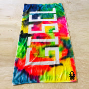 Tie-dye Crumple Rainbow Bath Towel