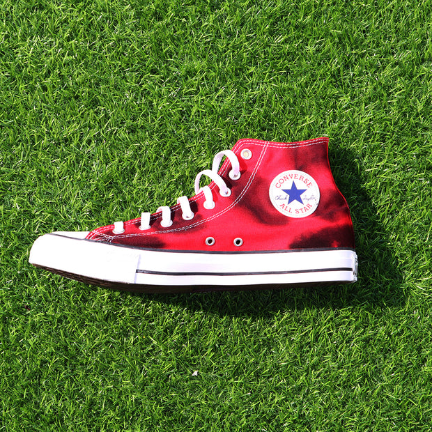 Tie-Dye All-Star Converse Unisex Canvas Sneakers Carbon Flame