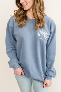 Monogram Comfort Colors Crew Neck