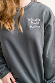 Adventure Travel Explore Crew Neck