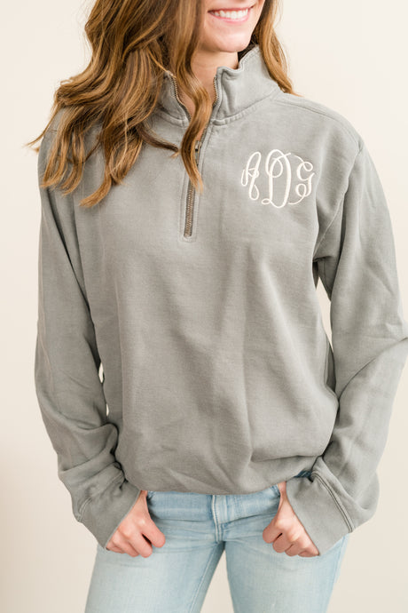 Monogram Comfort Colors Quarter Zip