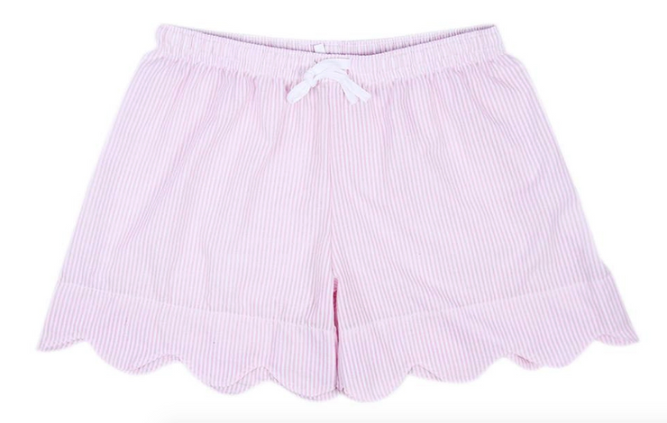 Light Pink Daisy Scallop Shorts