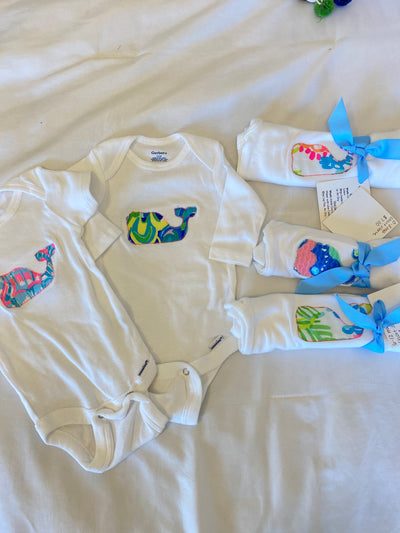 Summer Whale Infant Bodysuit - Several Sizes Left!