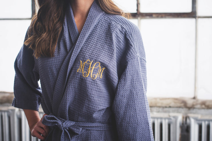 Charcoal Monogram Elizabeth Robe