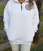 Gingham Monogram Quarter Zip