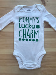 St. Patricks Day Set of 3 Infant Bodysuits - Newborn