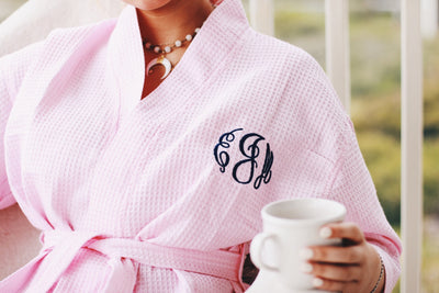 Light Pink Monogram Elizabeth Robe