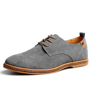 Casual Vintage Leather Shoes with Rubber Outsole