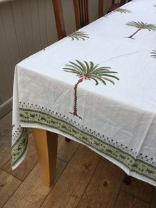 Green Jaipur Palms Tablecloth