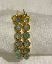 Blue Chalcedony Gypsy Hoop Earrings