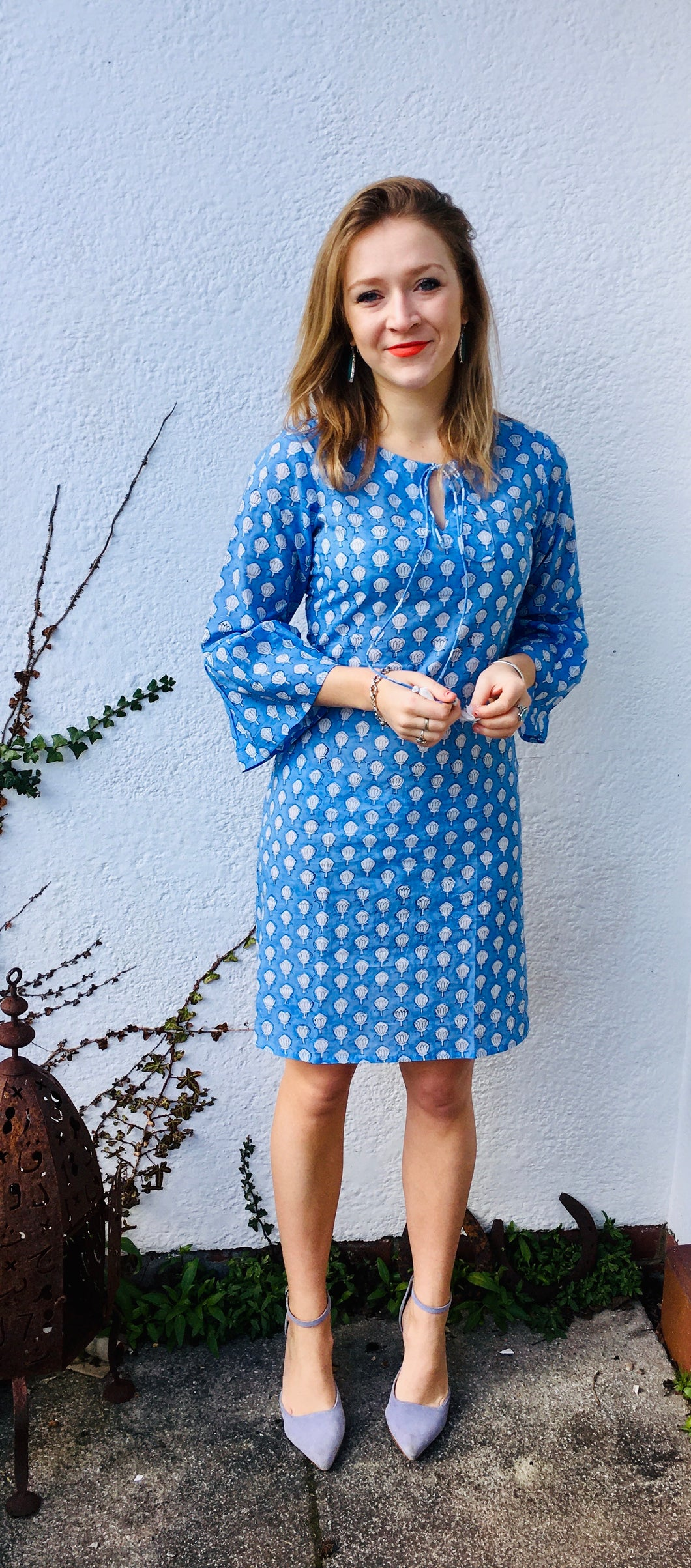 Tallulah Dress in Blue Lotus