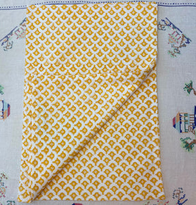 Yellow Leela Teatowel
